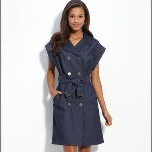 Adrianna Papell Denim Wrap Dress NWOT- Size 4